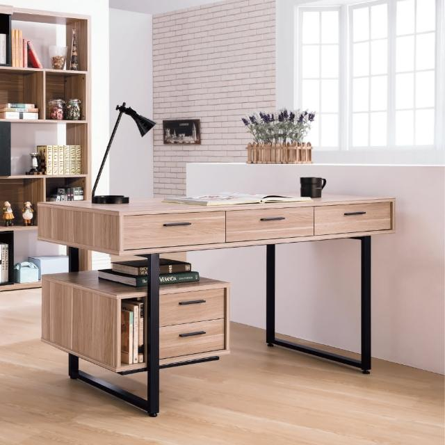 【AS】達斯丁原木色5尺書桌-150x60x76
