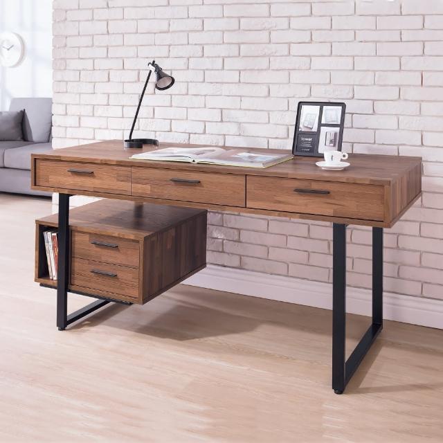 【AS】達斯丁木紋5尺書桌-150x60x76
