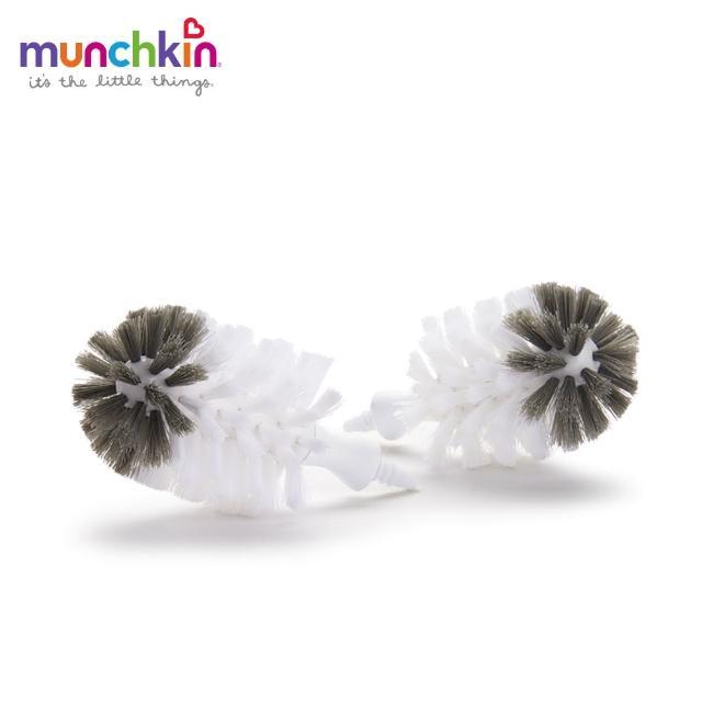 【美國munchkin滿趣健】不鏽鋼奶瓶刷-替換刷頭2入