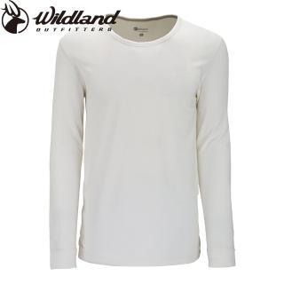 【Wildland 荒野】FAR INFRARED PULLOVER男遠紅外線圓領保暖衣(81米白色)   Wildland 荒野