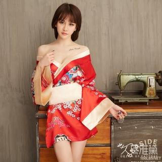 【久慕雅黛】繁花金彩華麗和服角色扮演服(紅色)   久慕雅黛