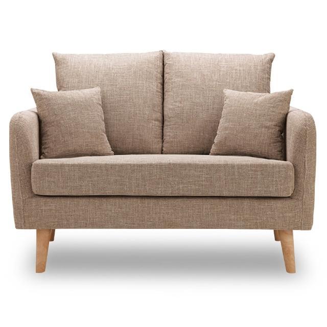 【時尚屋】卡洛兒雙人座淺咖啡色沙發 MT7-322-3(免組裝 免運費 沙發)