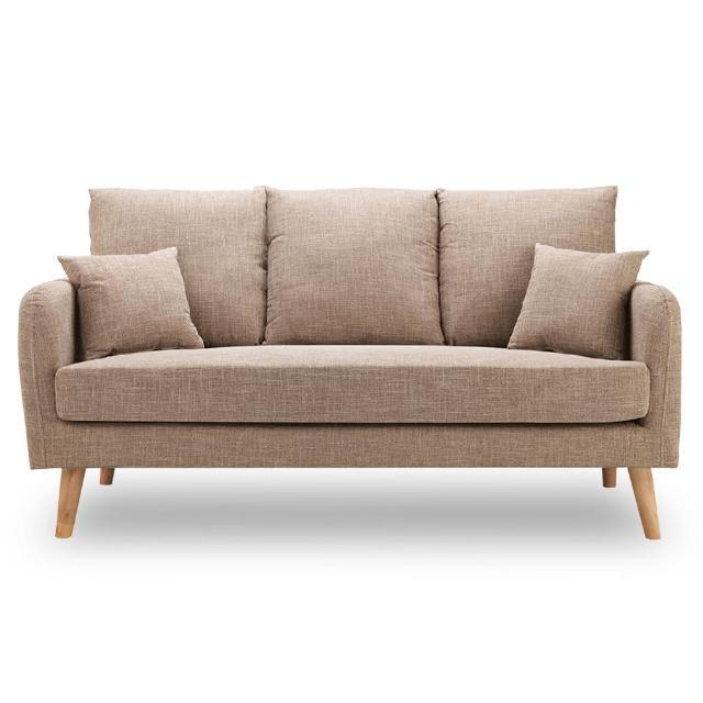【時尚屋】卡洛兒三人座淺咖啡色沙發 MT7-322-4(免組裝 免運費 沙發)