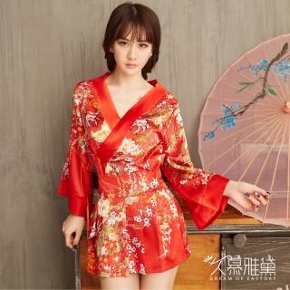 【久慕雅黛】紅花羽織華麗和服角色扮演服  久慕雅黛