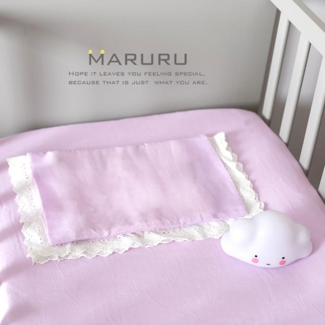 【MARURU】日本製嬰兒床單 木槿紫 70x120(日本製嬰兒寶寶baby床單-適用台式60x120-日式70x120嬰兒床墊)