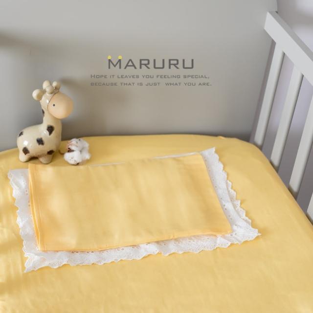 【MARURU】日本製嬰兒床單 嬰兒黃 70x130(日本製嬰兒寶寶baby床單-適用70x130嬰兒床墊)