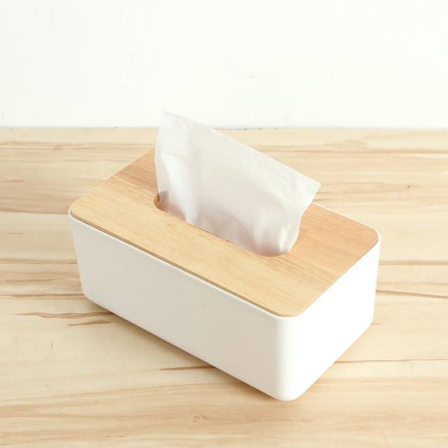 【巴芙洛】震撼價-橡木面紙盒-小(方形木蓋)