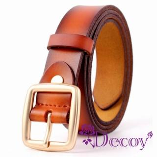 【Decoy】簡約中性*雙層真牛皮腰帶/3色可選  Decoy