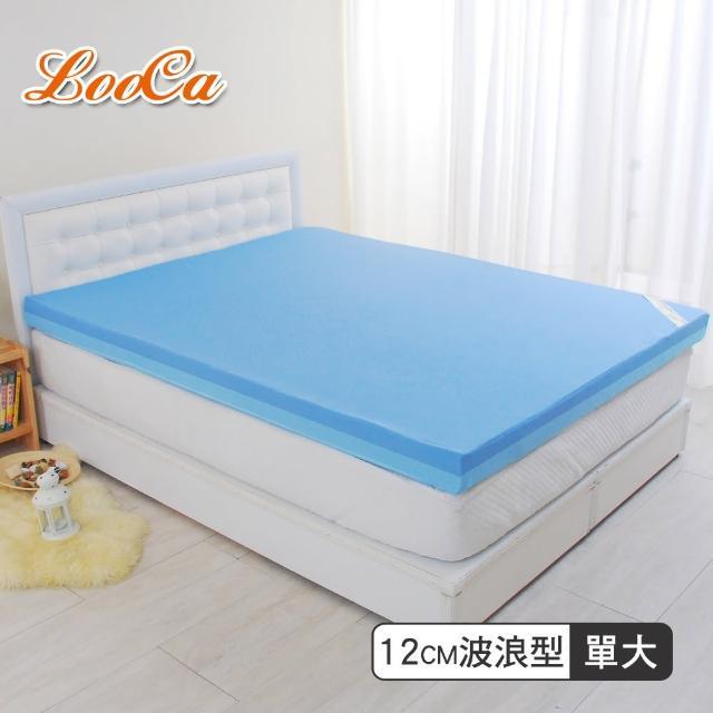 【LooCa】護理級雙效防水12cm釋壓記憶床墊(單大3.5尺)