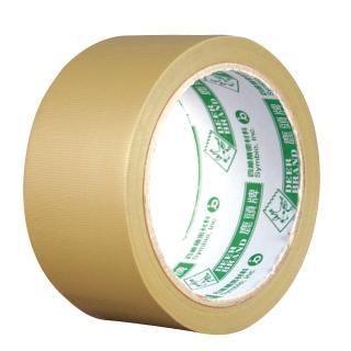 【鹿頭牌】大管芯布紋PVC膠帶/PVSI/棕/48mm×18M/6卷/束  鹿頭牌