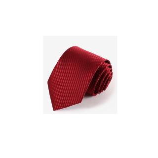 【拉福】領帶窄版領帶6cm防水領帶手打領帶(酒紅)  拉福