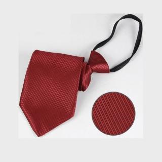 【拉福】斜紋領帶6cm寬版領帶拉鍊領帶(多色)  拉福