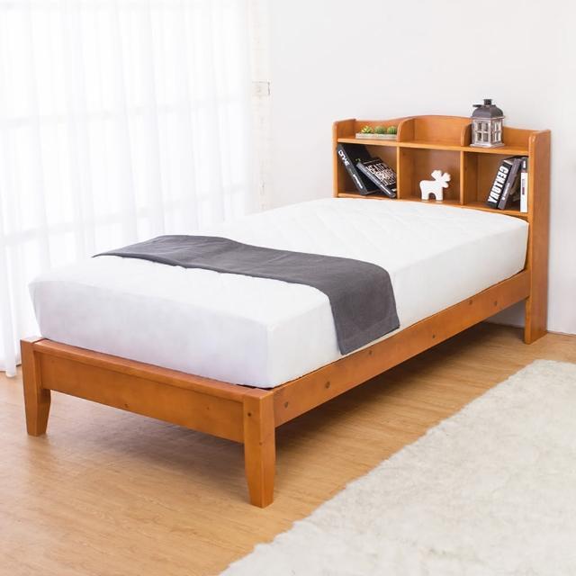 【Bernice】克查3.5尺實木書架單人床架