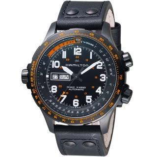 【HAMILTON 漢米爾頓】Khaki X-Wind御風者自動腕錶(H77785733)   HAMILTON 漢米爾頓