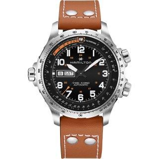 【HAMILTON 漢米爾頓】Khaki X-Wind御風者自動腕錶(H77755533)   HAMILTON 漢米爾頓