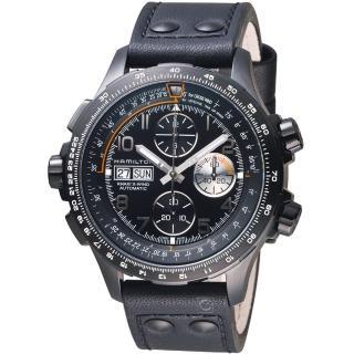 【HAMILTON 漢米爾頓】Khaki X-Wind御風者自動計時腕錶(H77736733)  HAMILTON 漢米爾頓