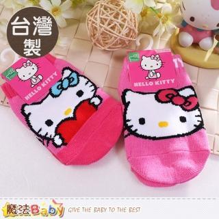 【魔法Baby】寶寶襪 2雙一組 台灣製Hello Kitty正版止滑寶寶襪(k50602)   魔法Baby