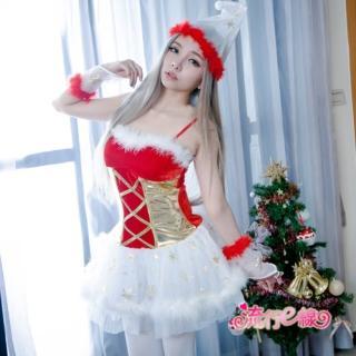 【流行E線】聖誕裝 小精靈細肩帶洋裝聖誕禮物聖誕服角色扮演聖誕裝(F070)  流行E線
