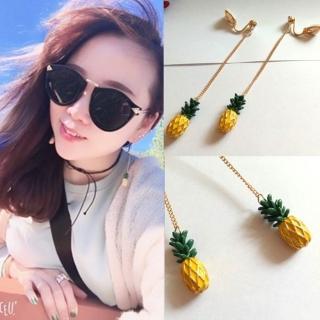 【梨花HaNA】無耳洞盛夏的水果派對鳳梨耳線耳環夾式   梨花HaNA