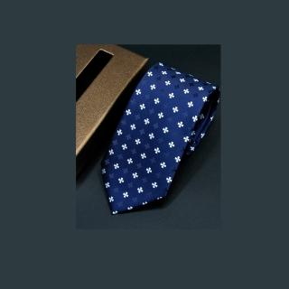 【拉福】領帶滿花7cm領帶拉鍊領帶  拉福