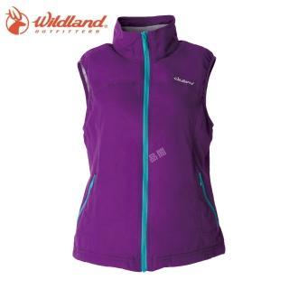 【Wildland 荒野】女防風防潑保暖背心(53紫色)   Wildland 荒野