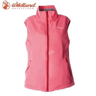 【Wildland 荒野】女防風防潑保暖背心(78粉橘色)   Wildland 荒野
