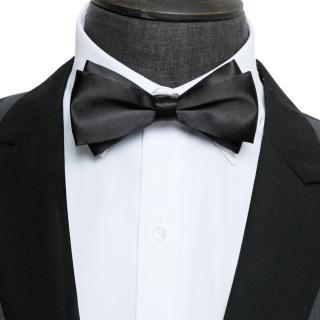 【拉福】大小翼精品中折領結新郎結婚領結糾糾(黑色)  拉福