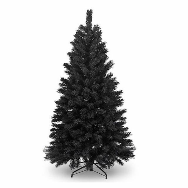 【摩達客】台灣製7呎- 7尺210cm 時尚豪華版黑色聖誕樹 裸樹(不含飾品 不含燈)