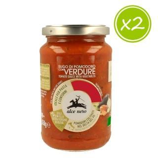 【AlceNero有機尼諾】有機番茄蔬菜義大利麵醬350g(二入組)   alce nero 有機尼諾