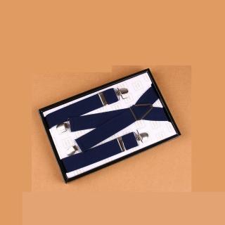【拉福】吊帶X夾紳士吊帶附紙盒(深藍接近黑色)  拉福