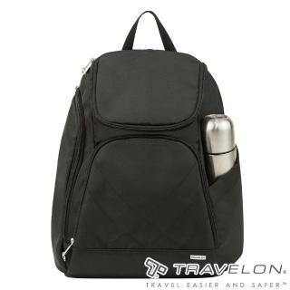 【Travelon】TL-42310-15 黑(簡單素面風格經典防盜雙肩後背包 休閒旅遊/防割鋼網/RFID個資防盜)   Travelon