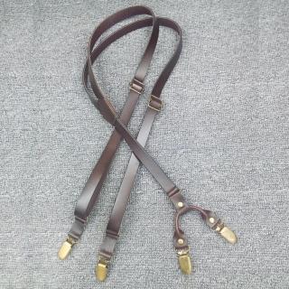 【拉福】三夾1.7cm牛皮四夾背帶西裝吊帶(三色)   拉福