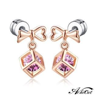 【AchiCat】耳環栓扣式 冰雪佳人 雪花 G4124  AchiCat
