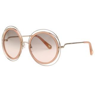 【Chloe' 蔻依】金屬大框 太陽眼鏡 CE120SD(淡金+裸色)   Chloe' 蔻依