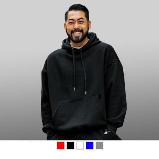 【男人幫】情侶大學T - 素面刷毛連帽T恤 舒適好穿 保暖百搭 - 刷毛長袖大學T360克(AH027)  男人幫