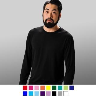 【男人幫】T7800*高磅數 - 領口加厚長袖15色素面T恤 - 棉質 - 抗菌 - 台灣製(T7800)  男人幫