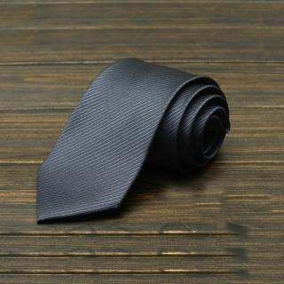 【拉福】防水領帶8cm寬版領帶拉鍊領帶(深灰)  拉福
