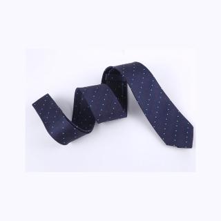 【拉福】領帶中窄版領帶6cm領帶手打領帶(紅白點)  拉福