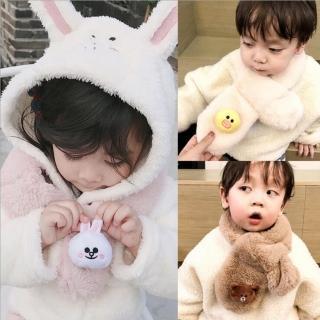 【小衣衫童裝】可愛立體卡通公仔仿兔毛圍巾(1061217)   小衣衫童裝