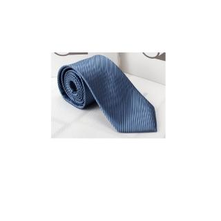 【拉福】防水領帶8cm寬版領帶拉鍊領帶(中藍)  拉福