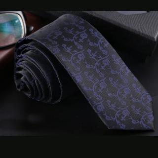 【拉福】藍紋6CM中窄版領帶拉鍊領帶(黑底)   拉福