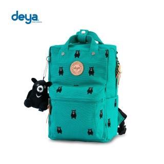 【deya】熊森林系刺繡帆布MINI小後背包-綠色(MIT)   deya