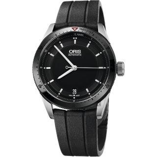 【ORIS 豪利時】Artix GT Day-Date 單向轉圈機械錶-黑x橡膠錶帶/37mm(0173376714434-0741820FC)  ORIS 豪利時