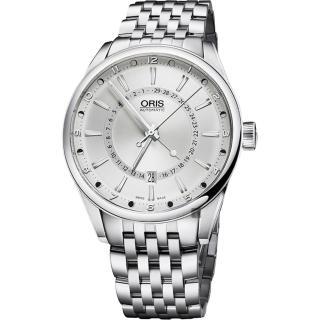 【ORIS 豪利時】Artix 指針式月亮週期機械錶-銀/42mm(0176176914051-0782180)   ORIS 豪利時