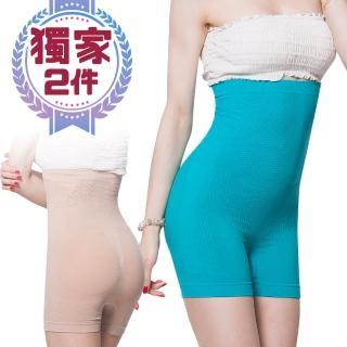 【貝醉美】抗溢肉腰夾式美臀平口五分塑身褲(超值2件)  貝醉美