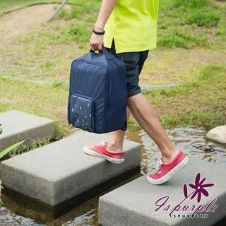 【iSPurple】摺疊尼龍*後背防水行李箱杆包/2色可選  iSPurple
