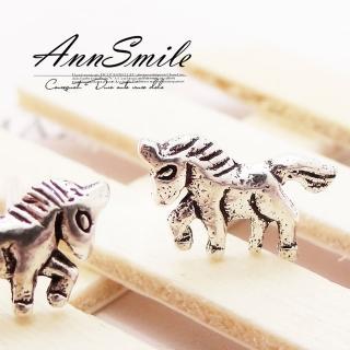 【微笑安安】獨角獸造型925純銀針式耳環   微笑安安