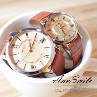 【微笑安安】香港品牌KEZZI*經典羅馬數字皮帶腕錶(共7色)  微笑安安