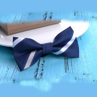 【拉福】領結新郎結婚領結糾糾兒童(藍白條)   拉福