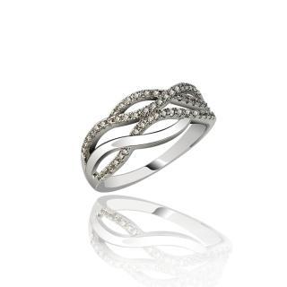 【xmono】浪花微鑲晶鑽戒指  xmono